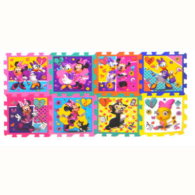 Disney Minnie Mouse Soft Foam Hopscotch Play Mat Puzzle Floor Jigsaw Girls Kids