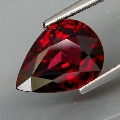 3.95Ct.Very Good Color&Full Fire! Natural Cherry Red Rhodolite Garnet Africa
