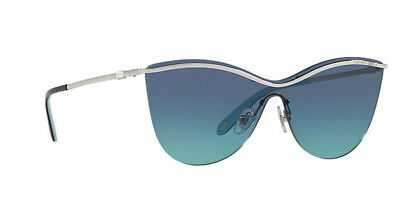 43440fcdc24 NWT TIFFANY   CO Butterfly Sunglasses TF 3058 60479S Silver   Azure Blue 35  mm