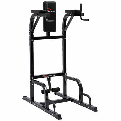Goplus Vertical Knee Raise Dip Station Chin Up Push Up Stand Power Tower Fitness
