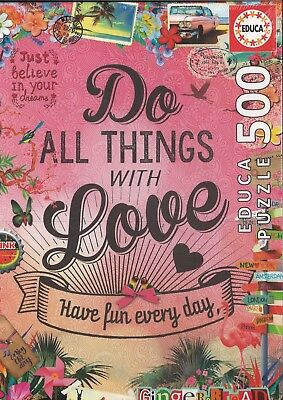 Puzzle 500 Do All Things Whit Love
