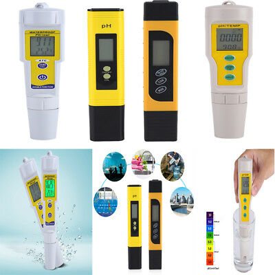 Digital LCD PH Meter TDS Tester Aquarium Pool Hydroponic Water Analyzer Pen ZY