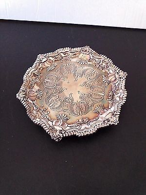 "7"" Footed Silverplate Candy Plate/ Japan"