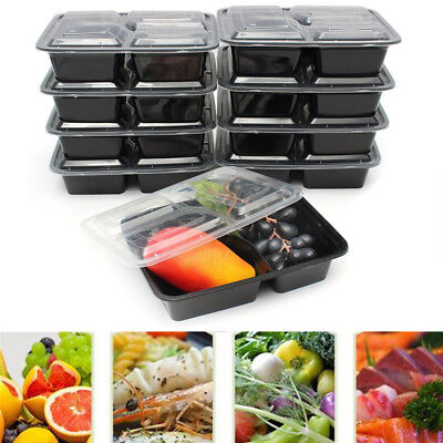 10/20 Microwavable Meal Prep Containers Plastic Food Storage Reusable Box IW