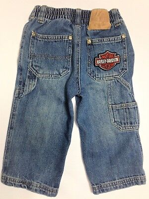 Harley Davidson Blue Jeans Toddler, Boy or Girl 18M, with Side Pocket