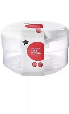 Tomee Tippee Essentials Microwave Steriliser 2 And 1 Microwave And Cold Water