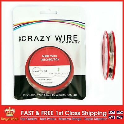 22 AWG (0.6mm) Nichrome (Ni80) Resistance Wire by The Crazy Wire Company