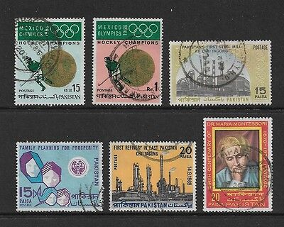 PAKISTAN - mixed collection No.9, 1969-1970, incl Olympic Hockey set