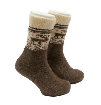 Mens Very Warm Thermal Thick 100%  Wool Socks | Winter Hiking Hunting