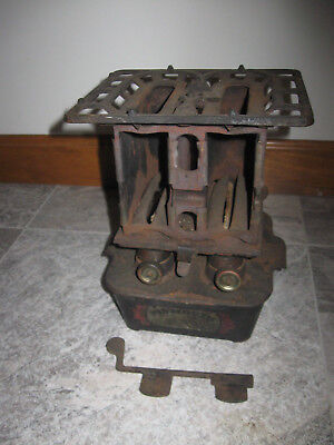 Antique Plymouth Foundry Oil & Gas Stove Heater AS IS Very Rare