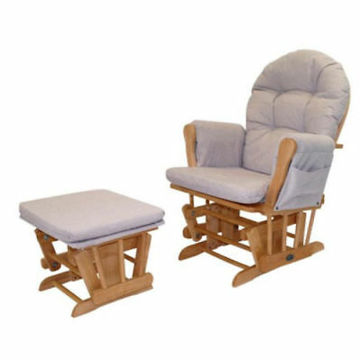 Babylo Glider Chair and Foot Stool Honey Dew Comfortable Nursing Chair