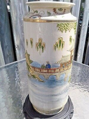 Large Antique Chinese Vase, Hand Painted, SIGNED