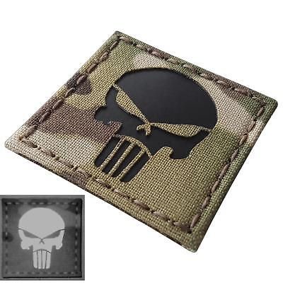 punisher skull IR 2x2 infrared multicam morale tactical laser fastener patch