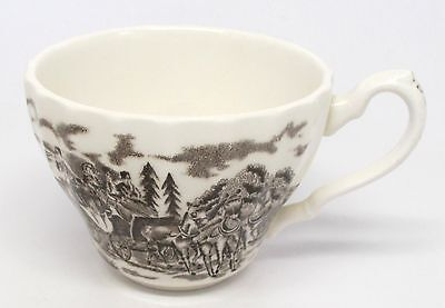 Myott Staffordshire - Royal Mail Brown - Cup - Ironstone - England - As Is
