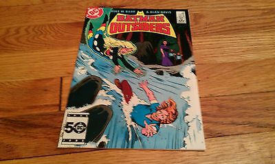 BATMAN AND THE OUTSIDERS 25 Mike Barr ALAN DAVIS 1985 comic book Serpent in Eden