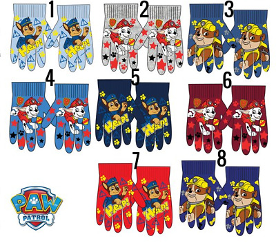 New boys girls officially licensed Paw Patrol winter gloves 3-7 years bnwt