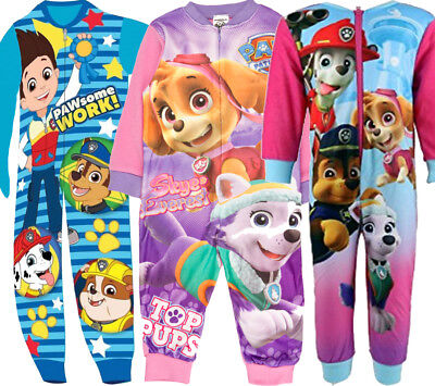 New Kids Boy's Girls Nickelodeon Paw Patrol Characters All In One Onezee Pyjama