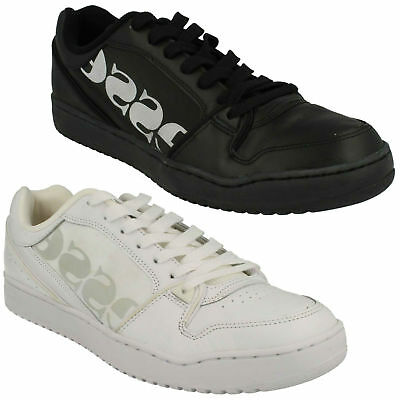 e10b69c40bf4e Mens Ellesse Black Lace Up Casual Leather Sports Trainers Shoes Assist Ii  Low