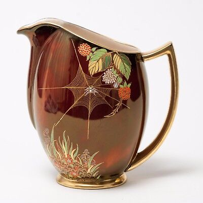 Vintage Carlton Ware Rouge Royale Spiders Web Pattern Jug