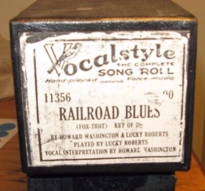 """""""railroad Blues"""" Played By Composer Lucky Roberts Recut Piano Roll 1217"""