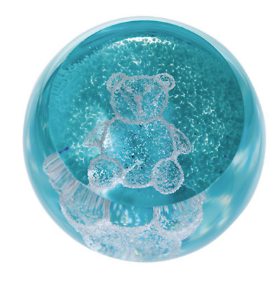 Caithness Glass Special Moments Teddy Green Paperweight 5cm U17099 UK Made