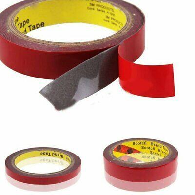 8/10/15/20mm 3M Strong Double Sided Super Sticky Foam Tape Roll For Vehicle Car