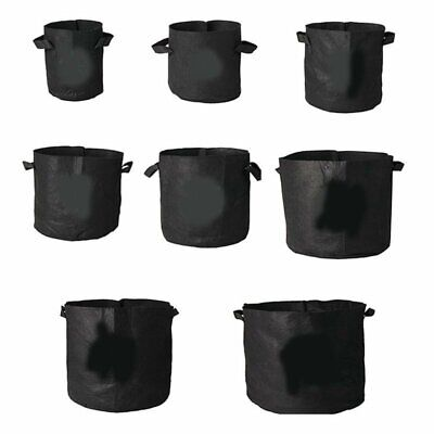 Fabric Grow Pots Breathable Plants Bags Pouch Root Container Garden Supply KU