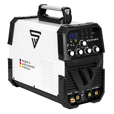 WELDER STAHLWERK AC/DC TIG 200 ST with PLASMA CUTTER - WELDING MACHINE INVERTER