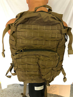 "USMC FILBE ASSAULT PACK USGI 3 DAY SYSTEM COYOTE Bugout CIF Turn in ""Repaired"""