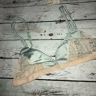 Vintage Bra 34a Emilio Pucci For R Saks Fifth Avenue NWT Green Lace D1 Bralette