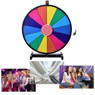 """14 Slot Tabletop Color Prize Wheel Dry Erase Fortune Game Best Toy Gift 18"""""""