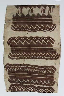 Tapa painted bark cloth, Tribal Art Collingwood Bay Tufi People Papua New Guinea
