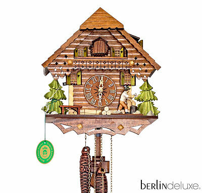 Original HEKAS Black Forest Cuckoo Clock Wood Chipper NEW / Box