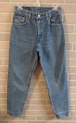 Vintage LEVI'S 550 Womens High Waist Mom Jeans - sz 7 - Relaxed fit, tapered leg