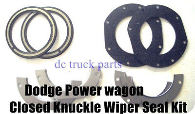 Dodge Power wagon W100 W200 1957 to 1971 Small Closed Knuckle Wiper Seal Kit