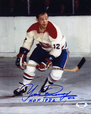 8983664b3d1 Yvan Cournoyer SIGNED 8x10 Photo + HOF 82 Montreal Canadiens PSA/DNA  AUTOGRAPHED