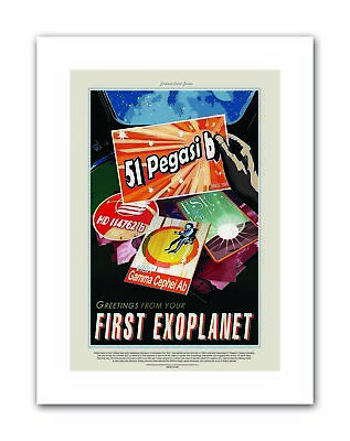 NASA SPACE FIRST EXOPLANET Poster Travel Canvas art Prints