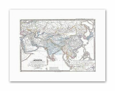 MAP 1855 SPRUNER CHANG DYNASTY CHINA TIBET Vintage Canvas art Prints