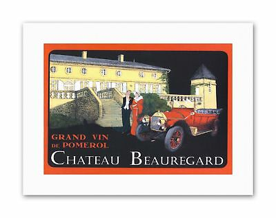 WINE VIN CHATEAU BEAUREGARD LINVITÉE GOT Poster Canvas art Prints