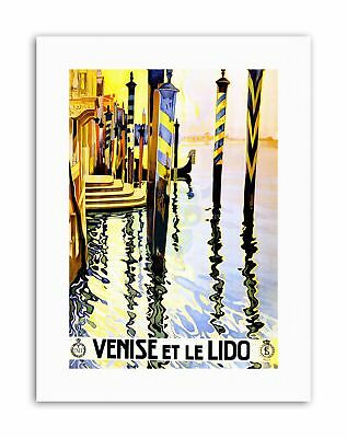 ART PRINT POSTER ADVERT TRAVEL TOURISM VENICE ITALY CANAL LIDO NOFL0551