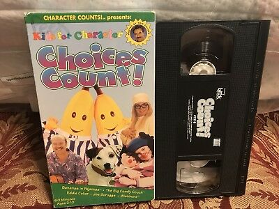 kids for character choices count 1997 vhs bananas in pajamas tom selleck picclick. Black Bedroom Furniture Sets. Home Design Ideas