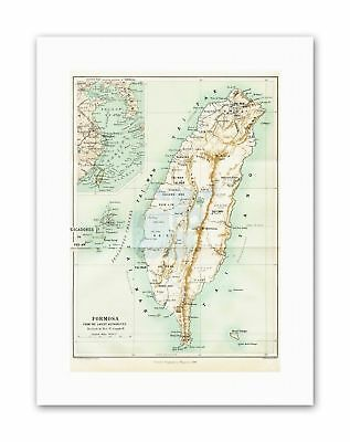 MAP TAIWAN FORMOSA HISTORY NEW Poster Picture Vintage Canvas art Prints