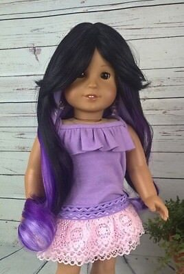 10-11 Custom Doll Wig fit Blythe-American Girl-1/4 Size SWEPT PASSION bn1