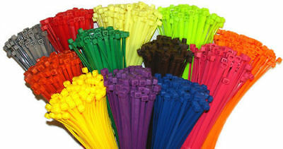 """4"""" Multi Color Nylon Cable Ties/Tie Wraps/ Network Zip Ties Fast Ship USA SELLER"""