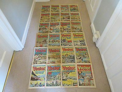 VICTOR COMICS X 24 FROM 1974 - Good condition/ WARLORD-Job Lot