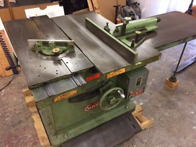 OLIVER SLIDING ROLLING TABLE SAW 88 88-DM TILTING ARBOR Heavy Duty Cast Iron