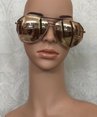 100335aaf02 LINDA FARROW SUNGLASSES Rose Gold Mirrored Aviator Cat 3 -  499.00 ...
