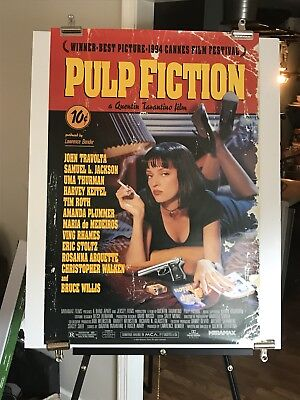 PULP FICTION original US one sheet movie poster Quentin Tarantino nm condition.