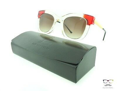 Thierry Lasry Sunglasses Sexxxy 995R Champagne, Red & Gold / Grey Gradient
