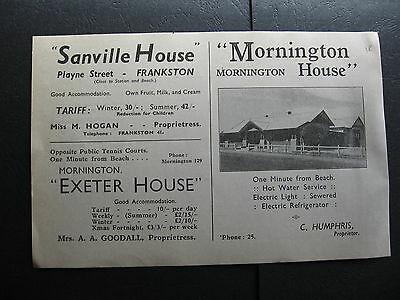 Mornington House C Humphris Sanville House Frankston M Hogan Exeter House A Good